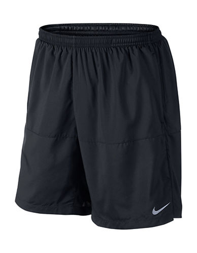 Nike Mesh Drawstring Distance Shorts-BLACK-Medium 88214468_BLACK_Medium