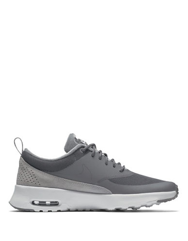 Nike Womens Air Max Thea LX Shoes-GREY-7.5