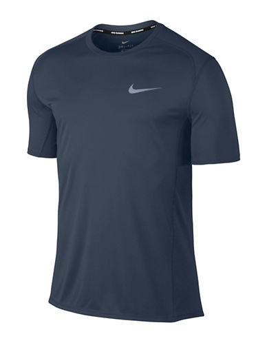 Nike Miler Short-Sleeve Running Top-BLUE-Small