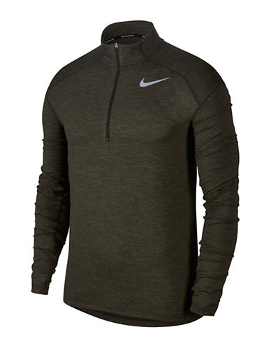 Nike Dry Element Zip Running Top-GREEN-Medium