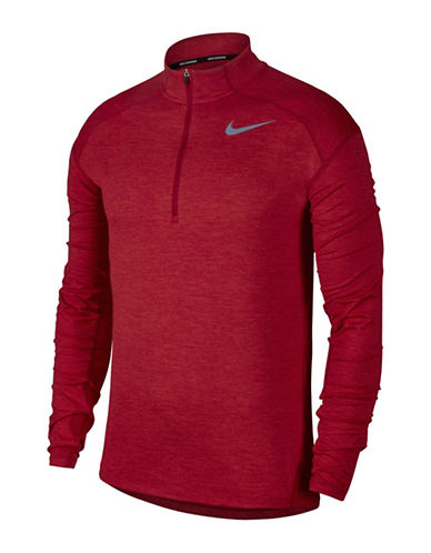 Nike Dry Element Zip Running Top-RED-X-Large