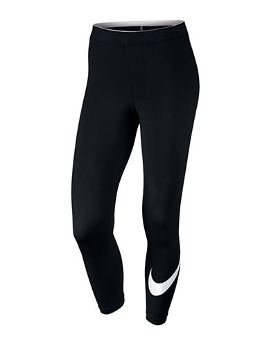 Nike NSW Club Logo Cropped Leggings-BLACK-Medium 89067598_BLACK_Medium