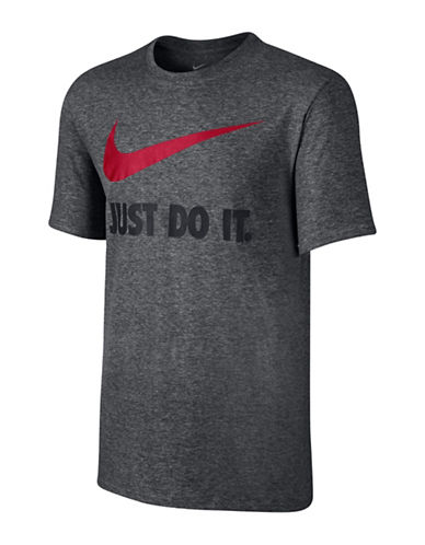 Nike Swoosh T-Shirt-CHARCOAL-XX-Large