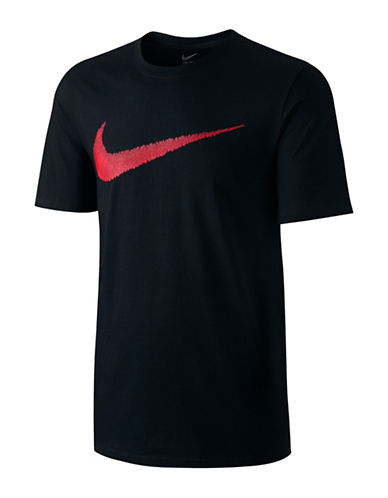 Nike Swoosh Cotton T-Shirt-BLACK-Large 89044917_BLACK_Large