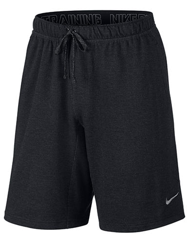 Nike Dri-FIT Touch Fleece Shorts-BLACK-Large 87688523_BLACK_Large