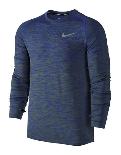 Nike Dri-FIT Knit Running Top-BLUE-X-Large 88973836_BLUE_X-Large