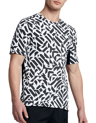Nike Dry Running Tee-WHITE/BLACK-X-Large 89087515_WHITE/BLACK_X-Large