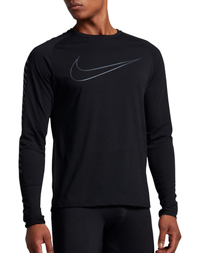 Nike Breathe Running Tee-BLACK-X-Large 89087523_BLACK_X-Large