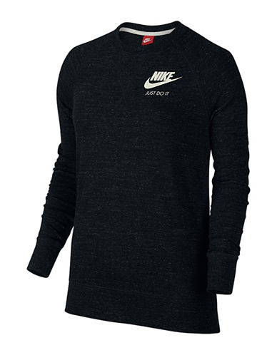 Nike Gym Vintage Crew Neck Sweater-BLACK-X-Small 88470549_BLACK_X-Small