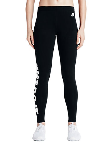 Nike Leg-A-See Just Do it Leggings-BLACK-Medium