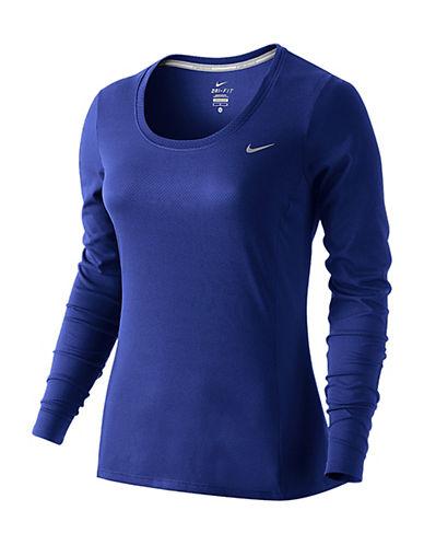 Nike Dri-FIT Contour Long-Sleeve Top-BLUE-Large 88184014_BLUE_Large