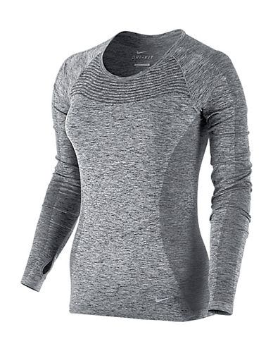 Nike Dri-FIT Knit Long-Sleeve Top-GREY-X-Large 88184075_GREY_X-Large