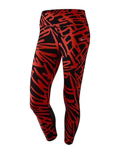 Nike Dri-FIT Power Epic Lux Cropped Running Tights-RED/BLACK-Large 88245559_RED/BLACK_Large