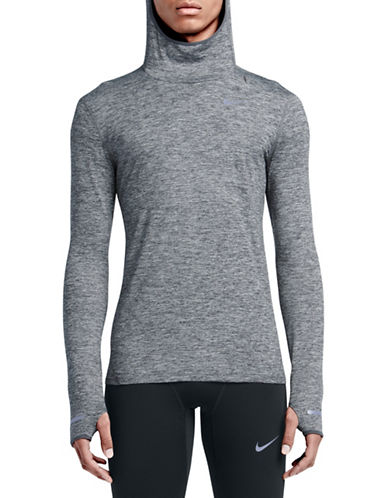 Nike Dry Element Heathered Running Hoodie-GREY-Medium 89087428_GREY_Medium