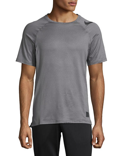 Nike Logo Print Tee-GREY-Medium