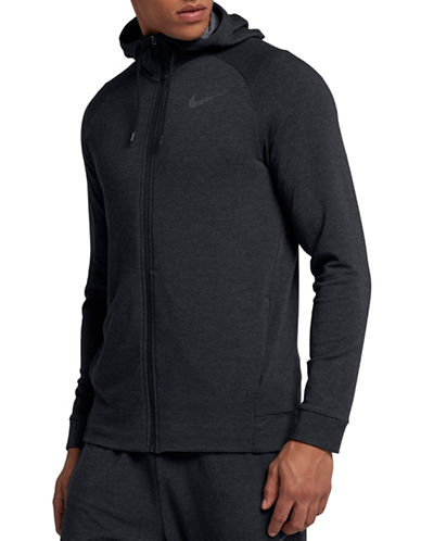 Nike Heathered Dry Training Hoodie-BLACK-XX-Large