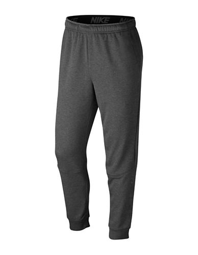 Nike Tapered Fleece Dry Training Pants-CHARCOAL-XX-Large