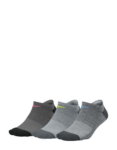 Nike Three-Pack Everyday Cushioned No-Show Training Socks-GREY-Medium 89810463_GREY_Medium