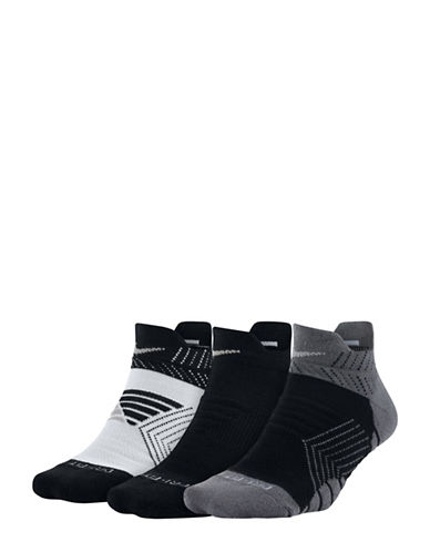 Nike Three-Pack Dry Cushioned Low Training Socks-BLACK-Medium 89810466_BLACK_Medium