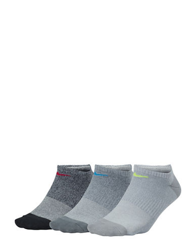 Nike Six-Pack Everyday Lightweight No-Show Training Socks-GREY-Medium 89810472_GREY_Medium