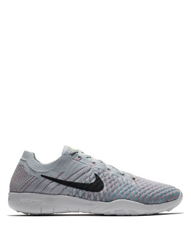Nike Womens Free TR Flyknit 2 Training Shoes-SILVER-9.5