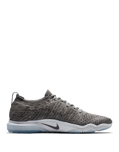 Nike Womens Air Zoom Fearless Flyknit Lux Training Shoes-GREY-5.5