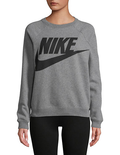 Nike Sportswear Rally Crew Sweatshirt-GREY/BLACK-Large 90019059_GREY/BLACK_Large