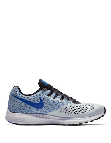 Nike Air Zoom Winflo 4 Running Sneakers-GREY-10.5
