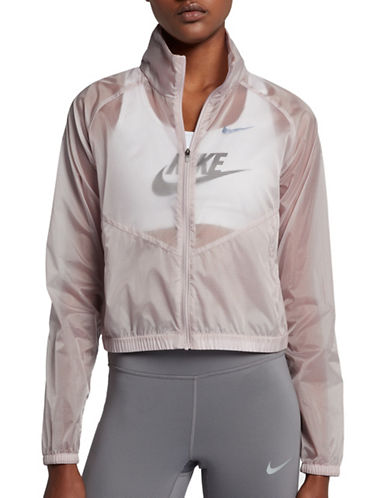 Nike Packable Running Jacket-PINK-Small