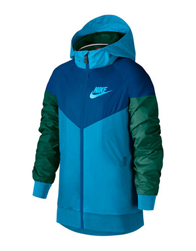 Nike Windrunner Hooded Jacket-BLUE-Large 89998913_BLUE_Large