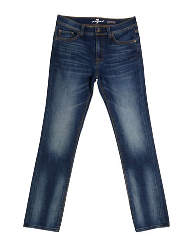 7 For All Mankind Slimmy Faded Jeans-HERITAGE BLUE-8