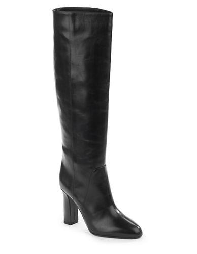 Diane Von Furstenberg Gladyss Tall Leather Boots-BLACK-10