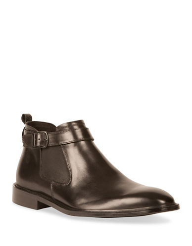 Kenneth Cole New York Chelsea Leather Boots-BLACK-8.5