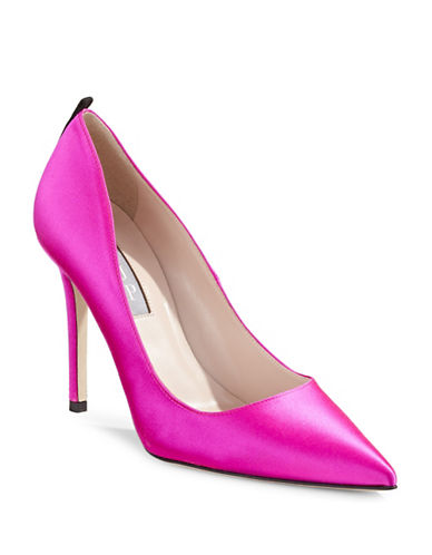 Sjp By Sarah Jessica Parker Fawn Satin Point Toe Pumps-CANDY PINK-EUR 38/US 8