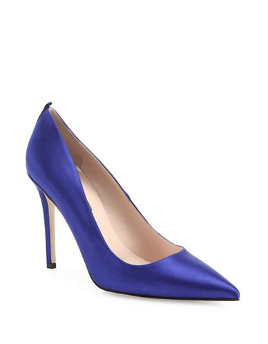 Sjp By Sarah Jessica Parker Fawn Satin Point Toe Pumps-SKYLINE BLUE-EUR 37.5/US 7.5