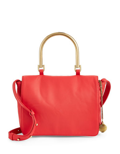 Sjp By Sarah Jessica Parker Jackie Leather Crossbody-RED-One Size