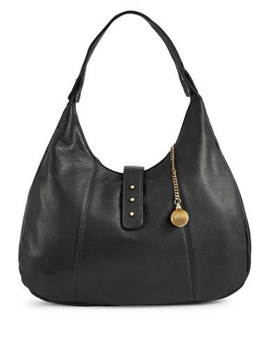 Sjp By Sarah Jessica Parker Leather Hobo Bag-BLACK-One Size