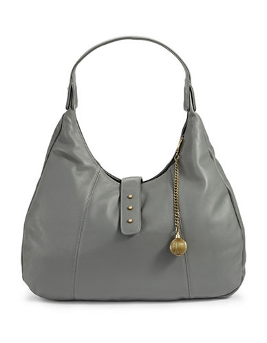 Sjp By Sarah Jessica Parker Leather Hobo Bag-GREY-One Size