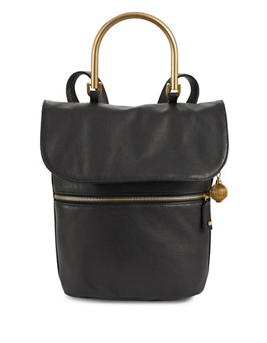 Sjp By Sarah Jessica Parker Oath Hardware Handle Leather Backpack-BLACK-One Size