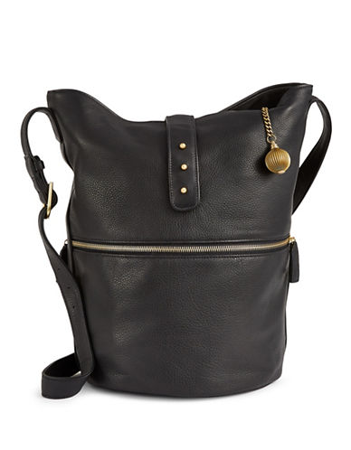 Sjp By Sarah Jessica Parker Leather Traveler Hobo-BLACK-One Size