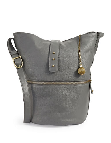 Sjp By Sarah Jessica Parker Leather Traveler Hobo-GREY-One Size