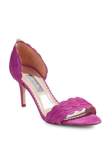 Sjp By Sarah Jessica Parker Bobbie Scalloped Suede Open-Toe Heels-ORCHID-EUR 37.5/US 7.5