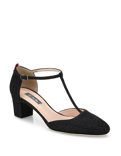 Sjp By Sarah Jessica Parker Nora Broach Pointed Cobal Pumps-BLACK-EUR 37.5/US 7.5