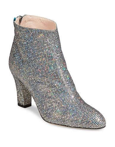 Sjp By Sarah Jessica Parker Glitter Ankle Booties-SILVER-EUR 36/US 6