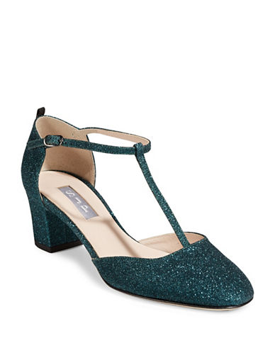 Sjp By Sarah Jessica Parker Pet T-Strapped Glitter Sandals-TEAL-EUR 40/US 10