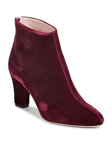 Sjp By Sarah Jessica Parker Minnie Velvet Ankle Boots-BORDEAUX-EUR 38.5/US 8.5