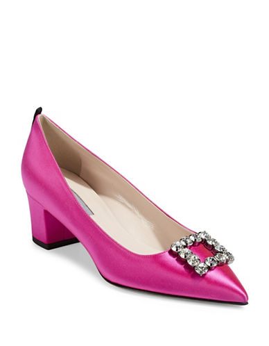 Sjp By Sarah Jessica Parker Nora Broach Cobal Pumps-PINK-EUR 37.5/US 7.5