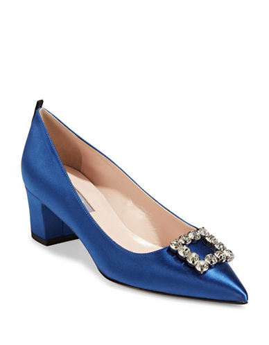Sjp By Sarah Jessica Parker Nora Broach Cobal Pumps-BLUE-EUR 37.5/US 7.5