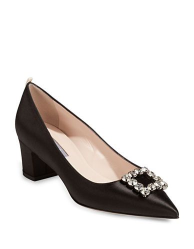 Sjp By Sarah Jessica Parker Nora Broach Cobal Pumps-BLACK-EUR 38/US 8