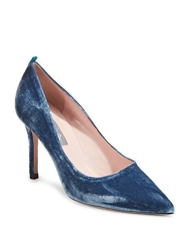 Sjp By Sarah Jessica Parker Fawn Velvet Pointy Pumps-LIGHT BLUE-EUR 37/US 7